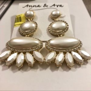 Anna & Ava Pearl Statement Earrings